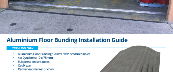 Aluminium Floor Bunding Installation Instructions - Stratex
