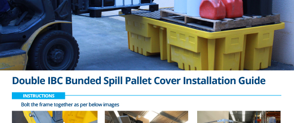 Double IBC Bunded Spill Pallet Cover Installation Guide