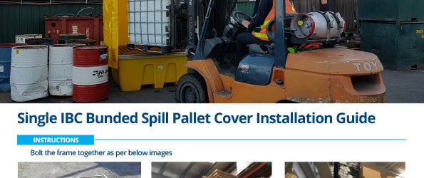 Single IBC Bunded Spill Pallet Cover Installation Guide