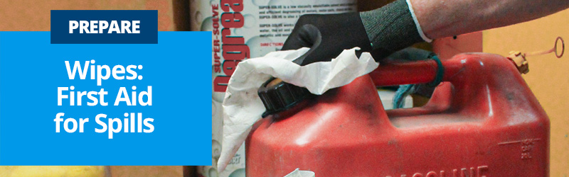 Prepare Wipes are First Aid for Spills