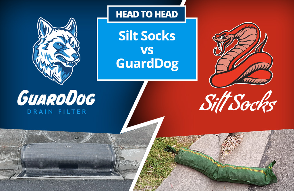 Head to Head: Silt Socks vs. GuardDog Drain Filters