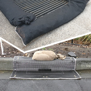 GuardDog vs Silt Sock Protecting Drains